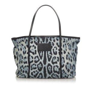 Dolce&Gabbana Leopard Print Leather Tote Bag