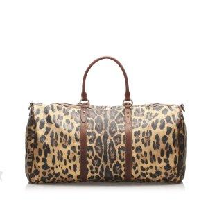 Dolce & Gabbana Borsa da viaggio marrone Clorofibra