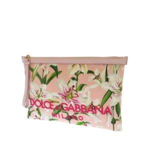 Dolce&Gabbana Lily Print Canvas Clutch Bag