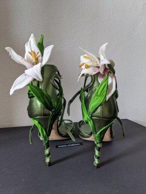 Dolce & Gabbana Sandales à lanière multicolore cuir