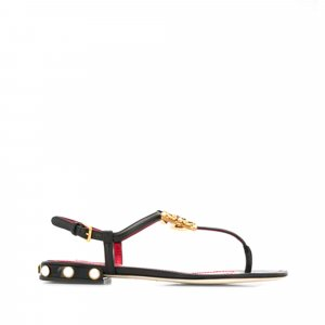 Dolce&Gabbana Logo Leather Flats