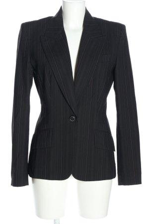 Dolce & Gabbana Long-Blazer schwarz-weiß Streifenmuster Business-Look
