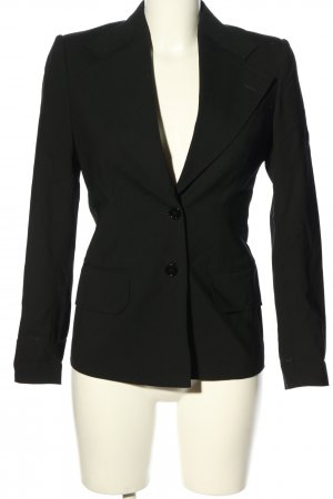 Dolce & Gabbana Lange blazer zwart gestippeld casual uitstraling