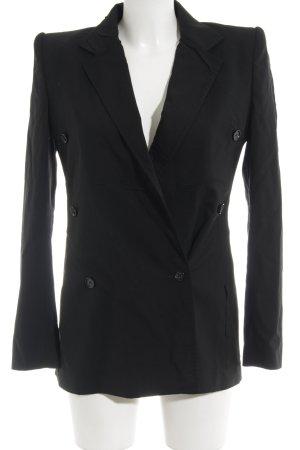 Dolce & Gabbana Long-Blazer schwarz schlichter Stil