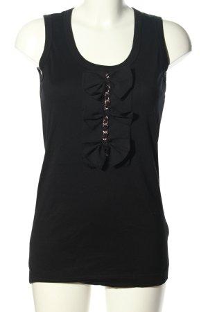 Dolce & Gabbana Top lungo nero stile casual