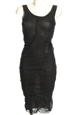 Dolce & Gabbana Vestido a media pierna negro elegante
