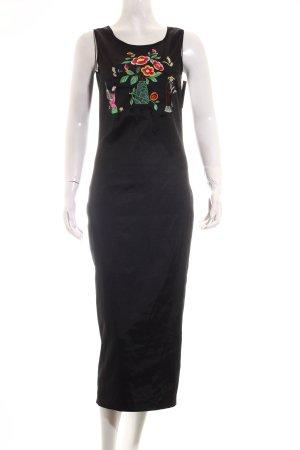 Dolce & Gabbana Midikleid schwarz Stickereiverzierung