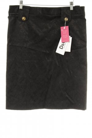 Dolce & Gabbana Midirock schwarz florales Muster Elegant