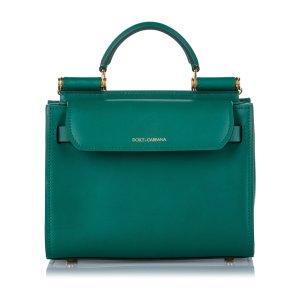 Dolce & Gabbana Sacoche vert cuir