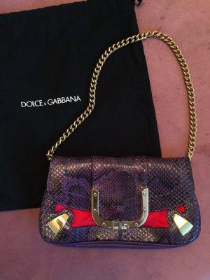 DOLCE & GABBANA Minibag (original!) Phythonleder & Samt NP: 1100€