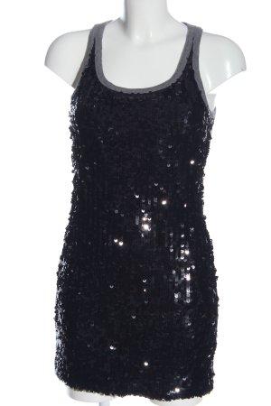 Dolce & Gabbana Minikleid hellgrau Glitzer-Optik