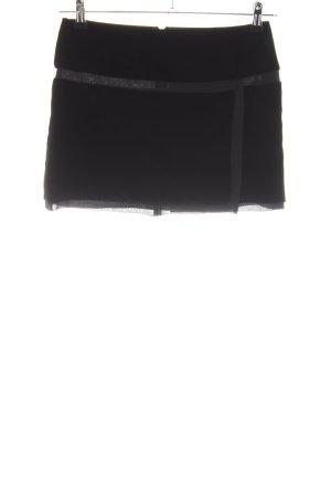 Dolce & Gabbana Minirock schwarz-hellgrau Casual-Look