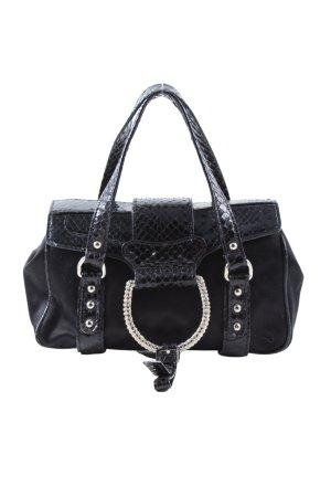 Dolce & Gabbana Minitasche schwarz-silberfarben Elegant