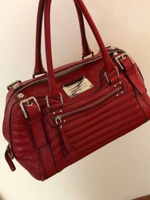 Dolce & Gabbana Bowling Bag dark red-brick red leather