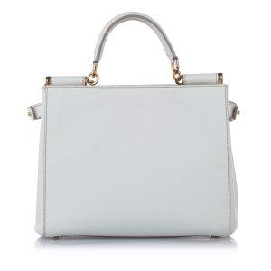 Dolce & Gabbana Sacoche blanc cuir
