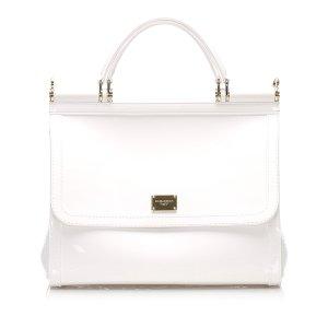 Dolce & Gabbana Mochila de colegio blanco Imitación de cuero