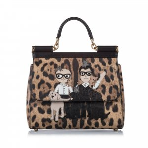 Dolce&Gabbana Miss Sicily Stefano Domenico Leather Satchel