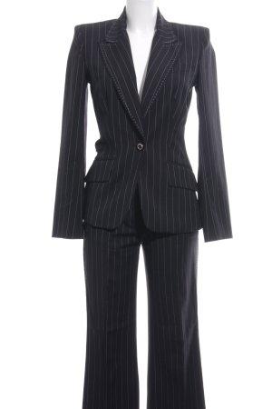 Dolce & Gabbana Krijtstreeppak zwart-wit gestreept patroon zakelijke stijl