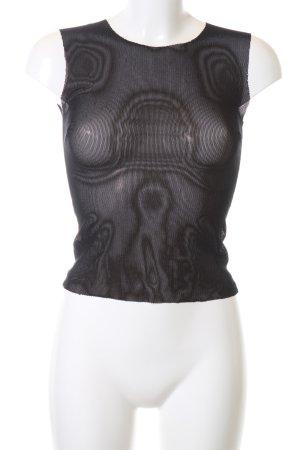Dolce & Gabbana Camisa de malla negro look casual