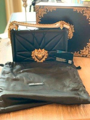 Dolce & Gabbana NEU Große Leder Umhängetasche Devotion Schwarz
