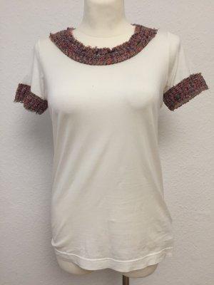 Dolce & Gabbana Basic topje wit-roodbruin
