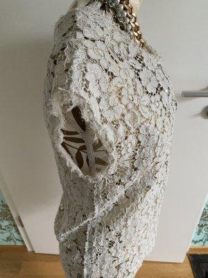 Dolce & Gabbana Blusa in merletto bianco sporco-crema