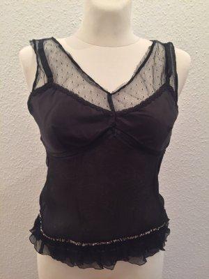 Dolce & Gabbana Koronkowa bluzka czarny
