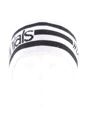 Dolce & Gabbana Orejeras blanco-negro letras impresas look casual