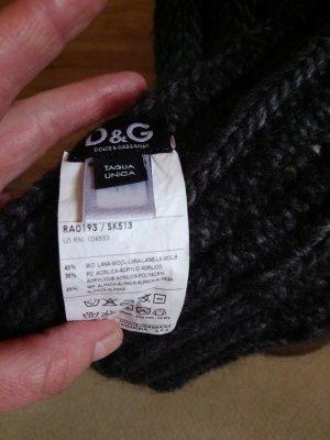 Dolce & Gabbana Sciarpa di lana antracite