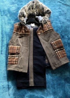 Dolce & Gabbana Capuchon vest donkerbruin-khaki
