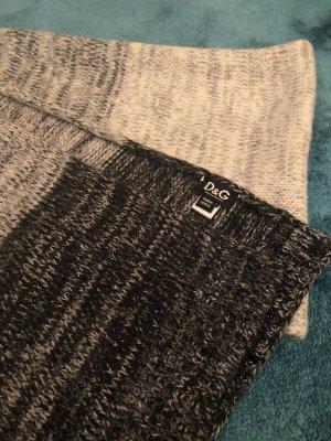 Dolce & Gabbana Bufanda de punto gris-negro