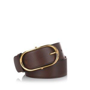 Dolce & Gabbana Cinturón marrón oscuro Cuero