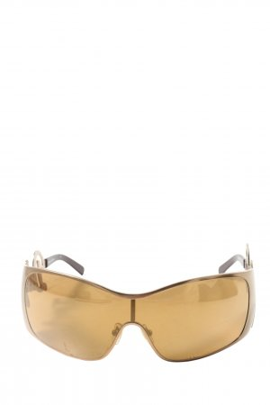 Dolce & Gabbana ovale Sonnenbrille goldfarben extravaganter Stil