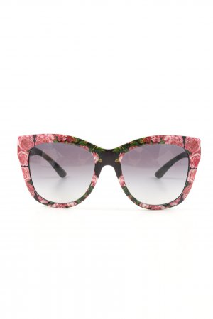 Dolce & Gabbana Panto Brille Blumenmuster Casual-Look