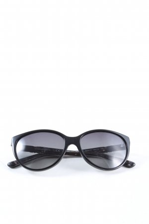 Dolce & Gabbana ovale Sonnenbrille schwarz Casual-Look