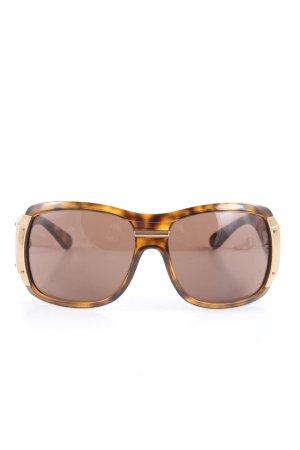 Dolce & Gabbana ovale Sonnenbrille braun-hellorange Leomuster Casual-Look