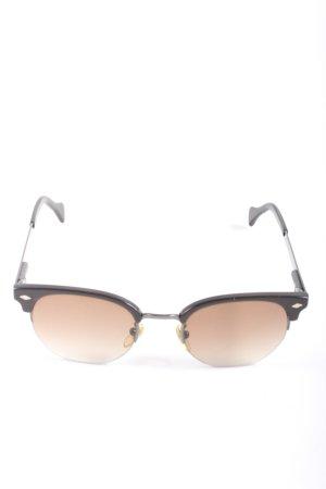 Dolce & Gabbana ovale Sonnenbrille schwarz-braun Motivdruck Casual-Look