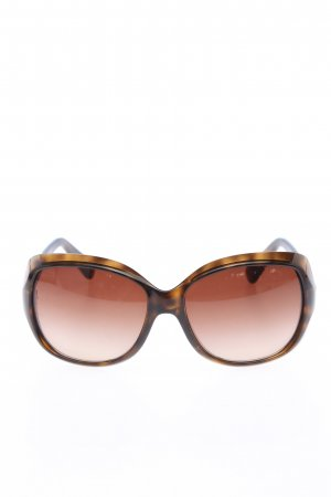 Dolce & Gabbana Oval Sunglasses brown abstract pattern casual look