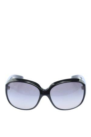Dolce & Gabbana ovale Sonnenbrille schwarz Business-Look
