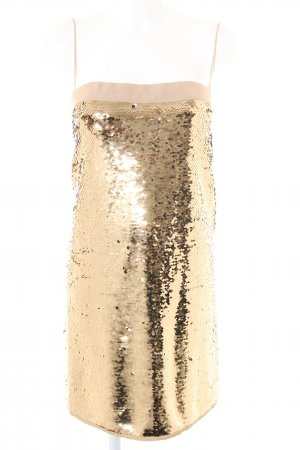 Dolce & Gabbana Pailettenkleid goldfarben-nude Elegant