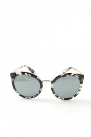 Dolce & Gabbana Panto Glasses brown-natural white abstract pattern casual look