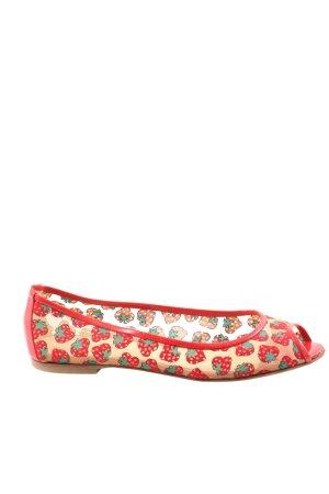 Dolce & Gabbana Peeptoe Ballerinas abstraktes Muster Casual-Look