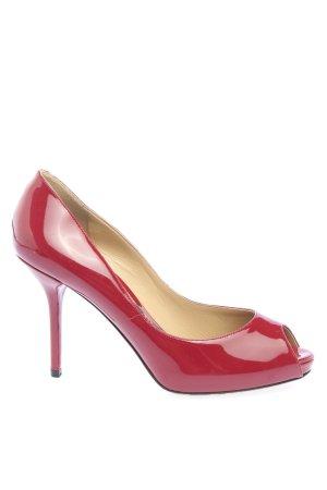Dolce & Gabbana Escarpins à bout ouvert rouge style d'affaires