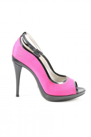 Dolce & Gabbana Peeptoe Pumps pink-schwarz Elegant