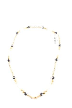 Dolce & Gabbana Collier de perles doré-noir élégant