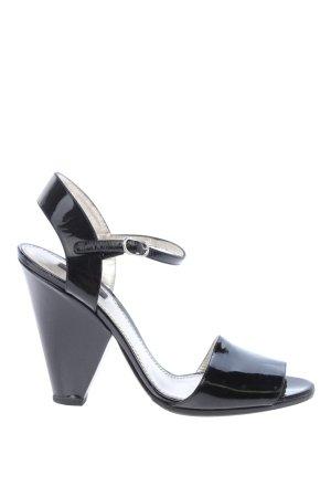 Dolce & Gabbana Strapped High-Heeled Sandals black elegant
