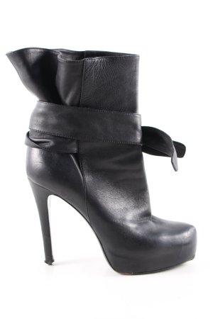 Dolce & Gabbana Plateau-Stiefeletten schwarz extravaganter Stil