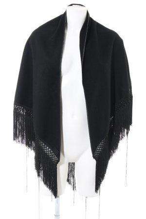 Dolce & Gabbana Poncho noir style décontracté