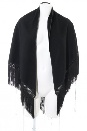 Dolce & Gabbana Poncho zwart casual uitstraling