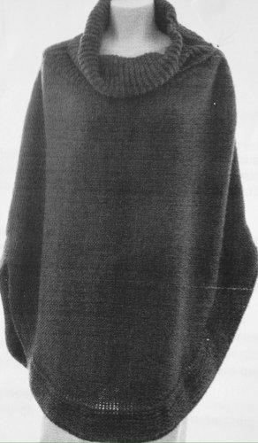 Dolce & Gabbana Poncho en tricot gris laine alpaga